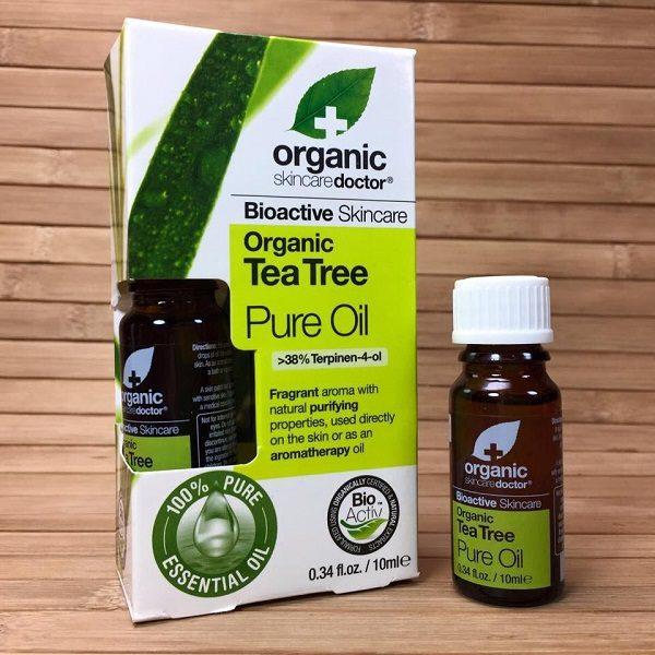 tinh dầu tràm trà trị mụn Dr. Organic
