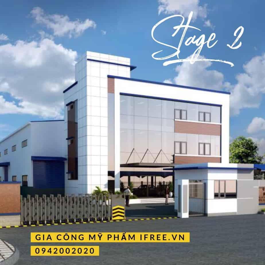 nhà máy gia công mỹ phẩm mới của công ty ifree có diện tích 3000 m2