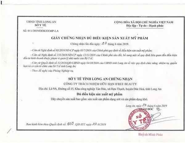 giấy phép sản xuất mỹ phẩm
