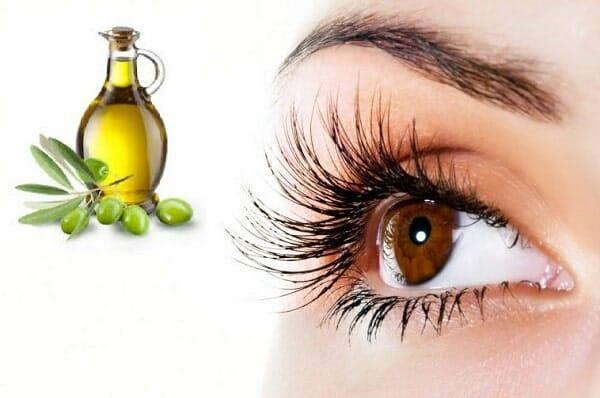 cách làm lông mi dài bằng dầu oliu