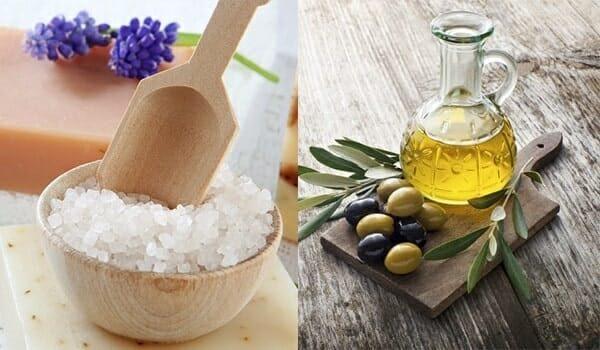 tẩy tế bào chết bằng đường và dầu oliu
