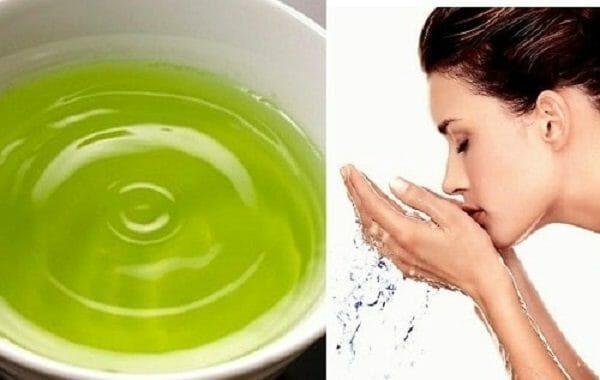cách làm sửa rửa mặt bằng trà xanh