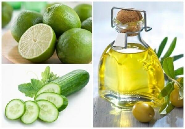 dùng dầu oliu làm trắng da mặt