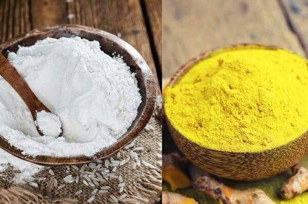 công dụng mặt nạ cám gạo bột nghệ