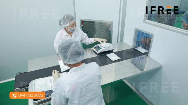 quy trình sản xuất mặt nạ tại nhà máy ifree beauty -2