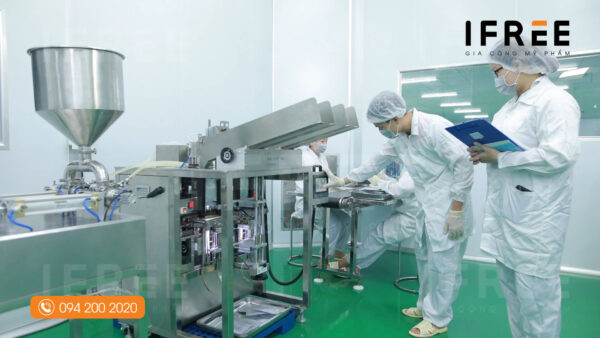 quy trình sản xuất mặt nạ tại nhà máy ifree beauty