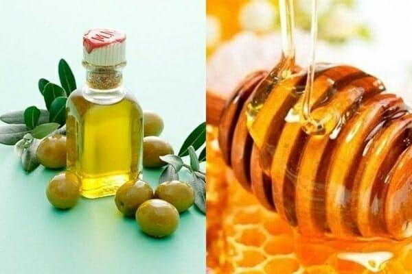 tẩy trang môi bằng dầu oliu