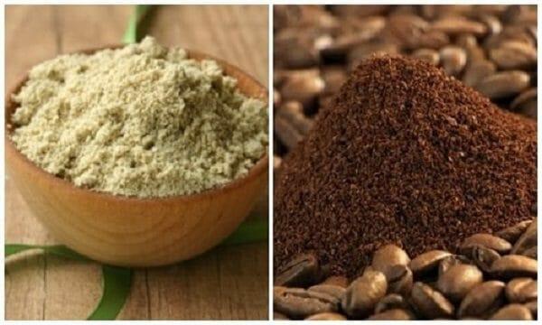 trị mụn bằng cám gạo cà phê