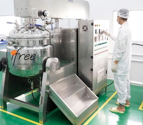 quy trình sản xuất mỹ phẩm tại iFree