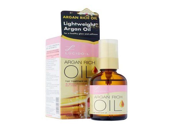 sản phẩm dưỡng tóc lucido argan rich oil