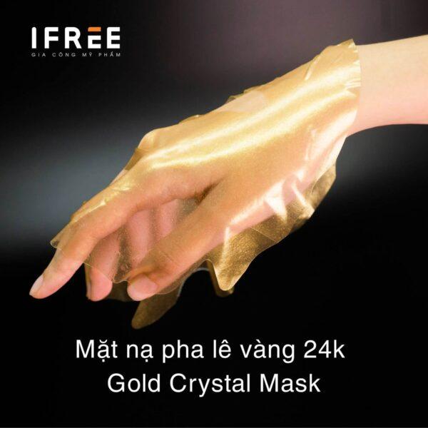 mặt nạ pha lê vàng 24k gold crystal mask