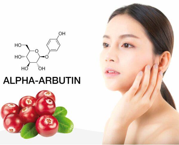 sử dụng alpha arbutin trong sản phẩm làm trắng da